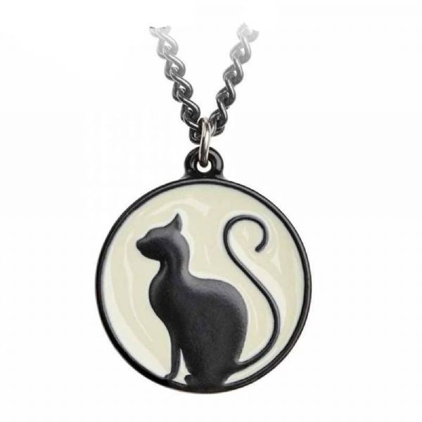 ALCHEMY GOTHIC  Meow at the Moon Cat Necklace